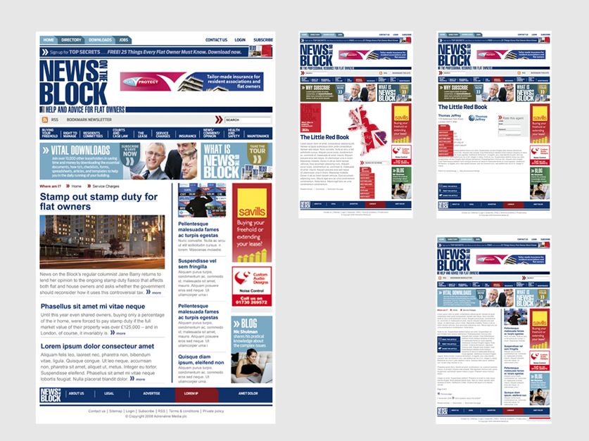 Website design for News on the Block to complement the redesign of the magazine by Nick McKay