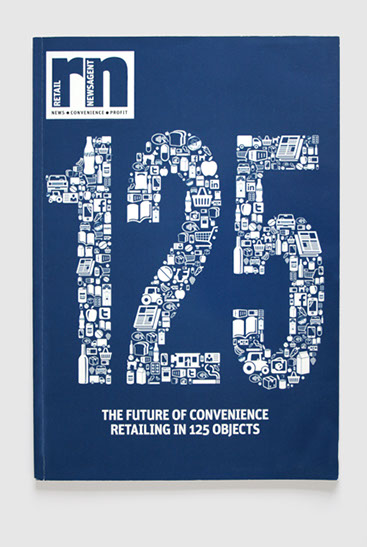 Design & art direction of Retail Newsagent's 125th commemorative issue by Nick McKay. Magazine cover