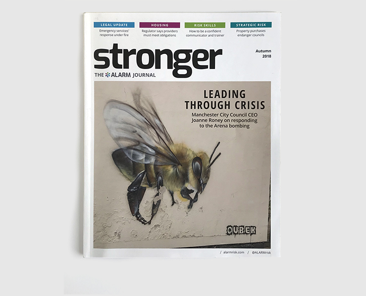 Design & art direction of Stronger magazine, the ALARM Journal by Nick McKay. Cover.