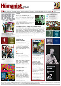 Website design for New Humanist to complement the redesign of the magazine by Nick McKay