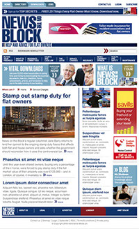 Website design to complement the redesign of News on the Block magazine by Nick McKay