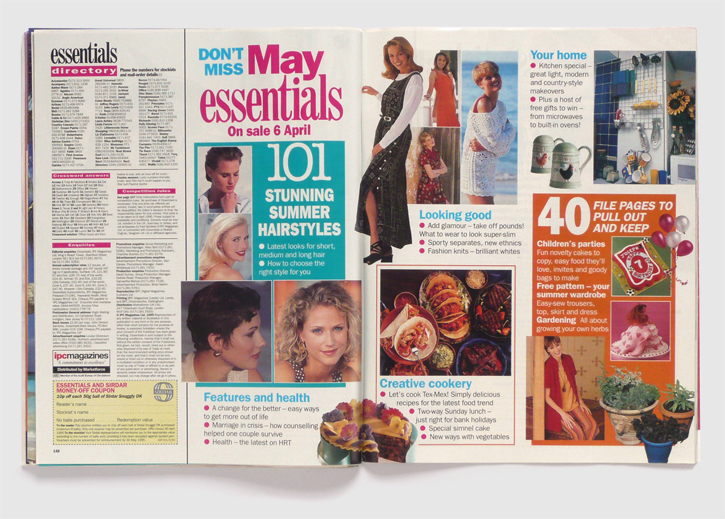 Design & art direction for Essentials magazine by Nick McKay, next issue spread