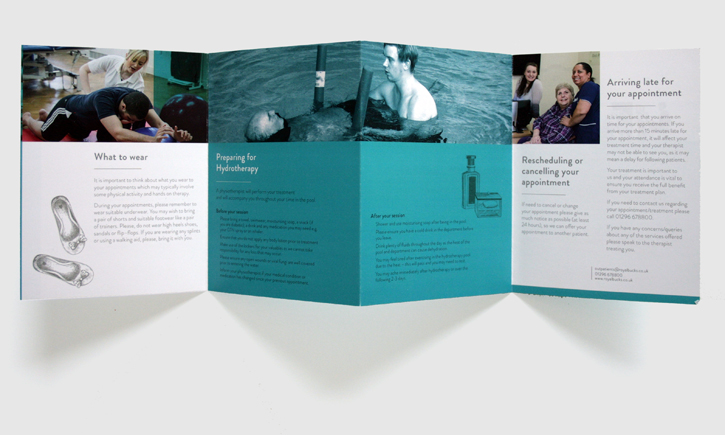 Design & art direction for leaflet for the Royal Buckinghamshire Hospital by Nick McKay, consertina second side