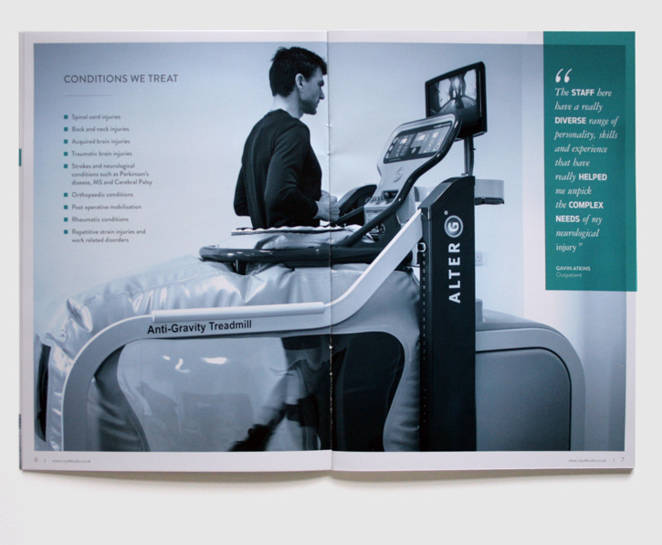 Design & art direction for promotional brochures for the Royal Buckinghamshire Hospital by Nick McKay, page 6-7