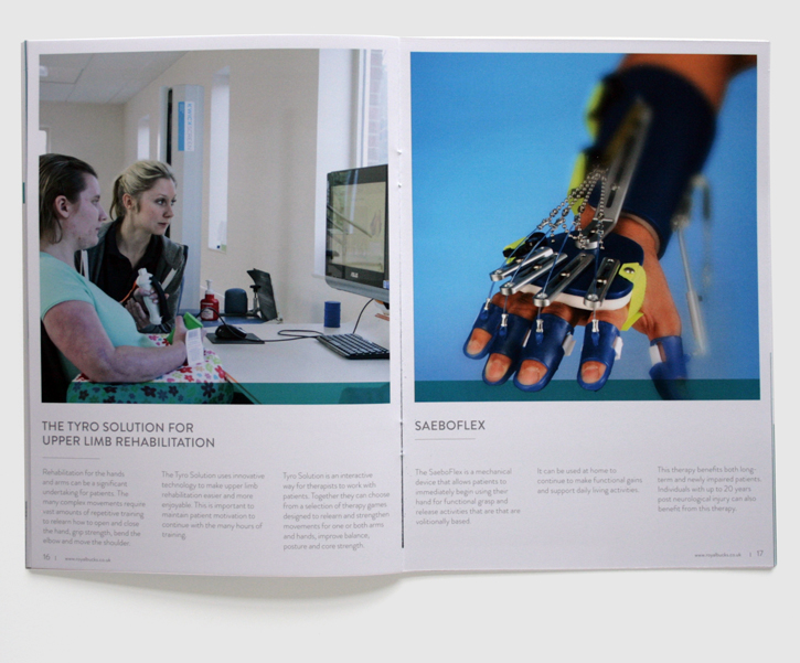 Design & art direction for promotional brochures for the Royal Buckinghamshire Hospital by Nick McKay, page 16-17