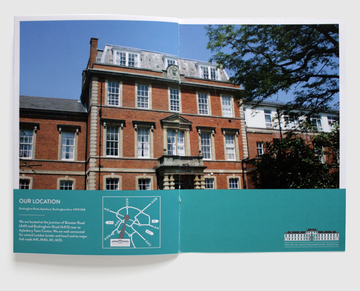 Design & art direction for promotional brochures for the Royal Buckinghamshire Hospital by Nick McKay, page 22-23