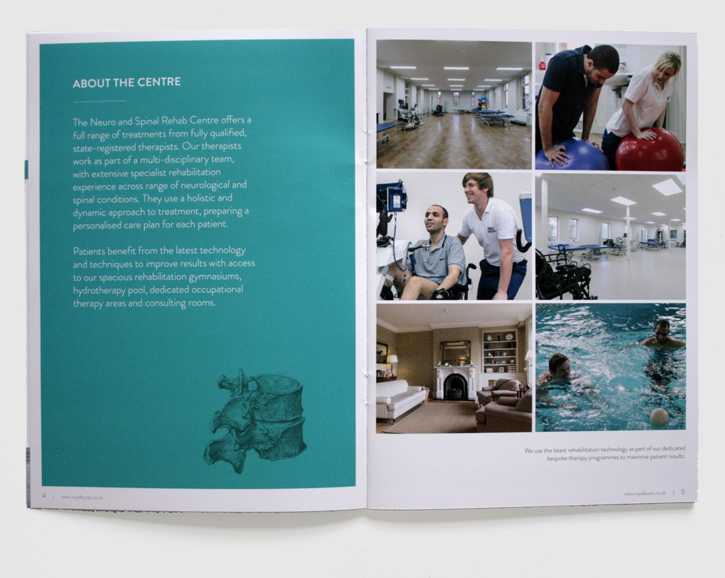 Design & art direction for promotional brochures for the Royal Buckinghamshire Hospital by Nick McKay, page 4-5