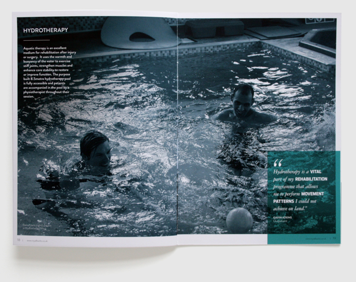 Design & art direction for promotional brochures for the Royal Buckinghamshire Hospital by Nick McKay, page 18-19