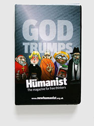 Design & art direction for trumps game for New Humanist by Nick McKay